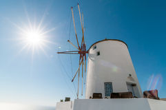Windmill at Oia, Santorini. Windmill at Oia, Santorini, Greece Royalty Free Stock Image