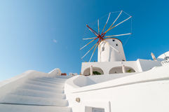 Windmill at Oia, Santorini. Windmill at Oia, Santorini, Greece Stock Images