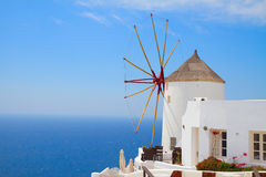 Windmill of Oia, Santorini Royalty Free Stock Photography