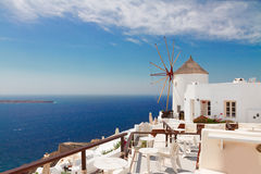 Windmill of Oia, Santorini Stock Photo