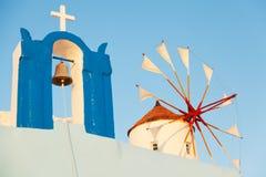 Windmill in Oia, Santorini Stock Photography