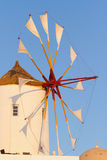 Windmill in Oia, Santorini. During a sunny summer day Royalty Free Stock Photo