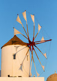 Windmill in Oia, Santorini. During a sunny summer day Royalty Free Stock Image