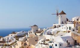 Windmill in Oia, Santorini. Stock Photos