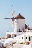 Windmill in Oia, Santorini. Stock Photography