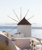 Windmill in Oia, Santorini. Stock Images