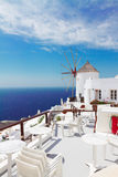 Windmill of Oia, Santorini Royalty Free Stock Images