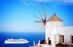 Windmill of Oia, Santorini Stock Photography