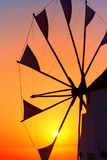 Windmill in Oia at sunset, Santorini Royalty Free Stock Photo
