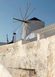 Windmill in Oia Village, Santorini, Greece. Stock Photography