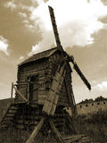 Windmill. Old abandoned windmill in Bulgaria Stock Photo
