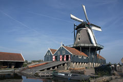 Windmill. A old dutch windmill with blue sky Stock Photography