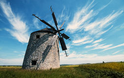 Windmill. An old but functioning windmill in the Bakony Mountains royalty free stock photos
