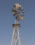 Windmill. Old iron outback farm windmill Royalty Free Stock Photos