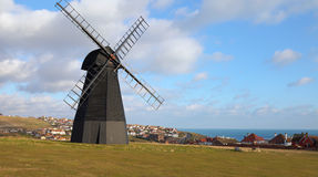Windmill old mill town england Royalty Free Stock Photo