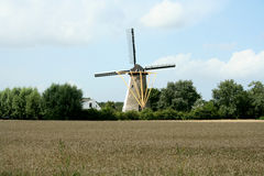 Windmill the Old Milll in Colijnsplaat Royalty Free Stock Photography