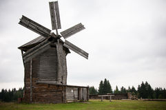 Windmill. Old windmill in museum-reserve Ludorvay near Izhevsk, Russia Stock Photos