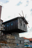Windmill in the old town of Sozopol, Bulgaria Royalty Free Stock Image