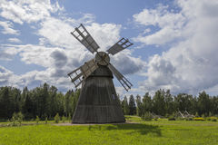 Windmill. Old wooden windmill in southern Finland stock photos