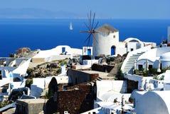 Free Windmill On Santorini Island Stock Image - 14334231