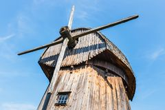 Windmill in open air folk museum in Lublin royalty free stock photography