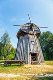 Windmill in open air folk museum in Lublin royalty free stock photos