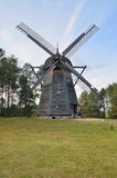 Windmill in open-air museum in Olsztynek (Poland). Folk Architekture Museum and Ethnographic Park is one of oldest open-air museums in Poland. At the beginning Stock Photography
