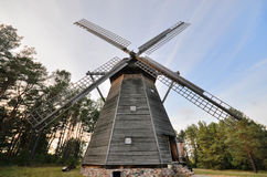Windmill in open-air museum in Olsztynek (Poland). Folk Architekture Museum and Ethnographic Park is one of oldest open-air museums in Poland. At the beginning Stock Image