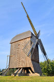 Windmill in open-air museum in Olsztynek (Poland). Folk Architekture Museum and Ethnographic Park is one of oldest open-air museums in Poland. At the beginning Stock Photo