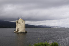 Windmill in Orbetello Royalty Free Stock Images