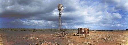Windmill, Outback, Australia Stock Photo