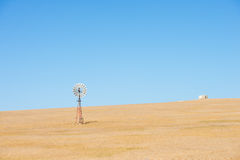 Windmill outback Australia farm field Royalty Free Stock Photos