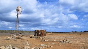 Windmill in the Outback, Australia Stock Photography
