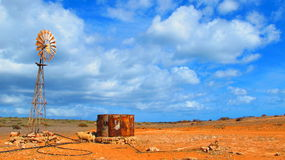 Windmill in the Outback, Australia. Windmill in the Outback of Gnaraloo Station, Western Australia Stock Photography