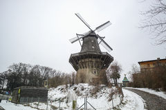 Windmill outside Sanssouci Palace in Winter Snow Stock Photography