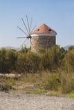 Windmill på den Kos ön, Grekland arkivfoton