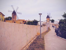 Windmill in Palma of Majorca Stock Image