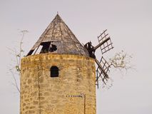 Windmill in Palma of Majorca Stock Photos