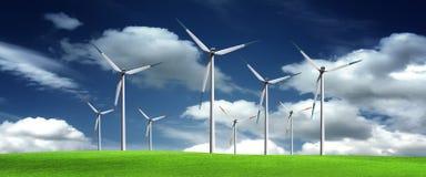 Windmill Panorama Stock Photos