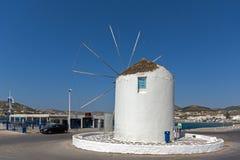 Windmill in Parikia, Paros island, Cyclades Royalty Free Stock Photography