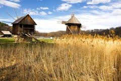 Windmill park, Sibiu, Transylvania, Romania Stock Images