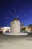 Windmill in Paros Stock Image
