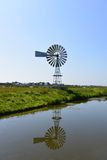 Windmill in Polder Royalty Free Stock Photography