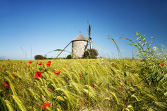 Windmill in Pontorson Royalty Free Stock Photography