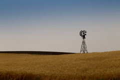 Windmill on a prairie farm. In Washington State Stock Photography