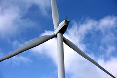 Windmill. Propellers development of ecological environment Premysl alternative technology for the creation of Rural and sea landscape, renewable energy blade stock photo