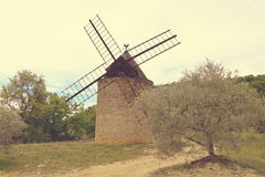 Windmill in Provence Stock Image