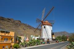 Windmill Pueblo Mogan Gran Canaria, Spain Royalty Free Stock Image