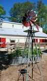 Windmill, Raised Bed, Barn Royalty Free Stock Images