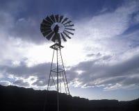 Windmill on ranch near Roundtable Mountain, UT Stock Photos